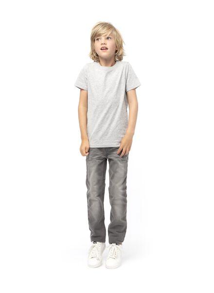 children´s T-shirt - organic cotton light grey light grey - 1000019369 - hema