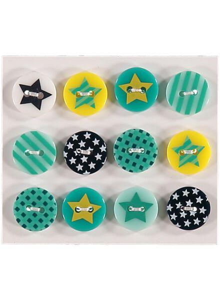 lot de 12 boutons étoile - 1490120 - HEMA