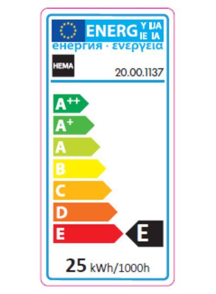 ampoule sphérique 25 W – gros culot - 20001137 - HEMA