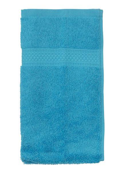 petite serviette - 30x55 cm - qualité épaisse - aqua - 5202605 - HEMA