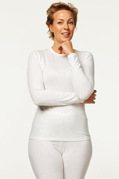 dames thermo t-shirt wit wit - 1000002188 - HEMA