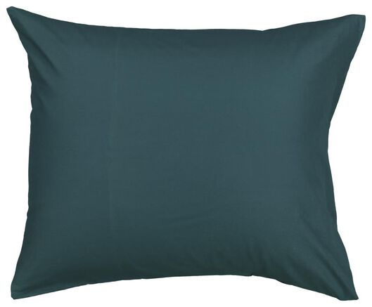 2 taies d'oreiller 60x70 - coton doux - vert foncé vert foncé 60 x 70 - 5100005 - HEMA