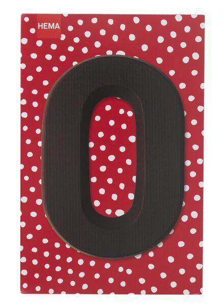 dark chocolate letter O - 10034013 - hema