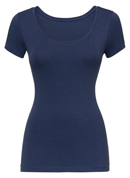 women's T-shirt dark blue dark blue - 1000005151 - hema
