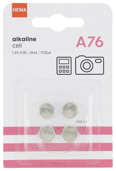 4er-Pack A76-Knopfzellenbatterien - 41200018 - HEMA