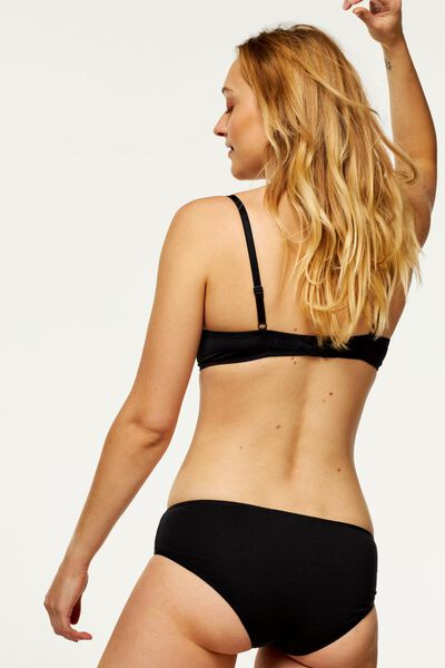 3-pack women's hipster panties cotton black black - 1000006534 - hema