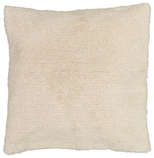 coussin rembourré 50x50 teddy blanc - 7322026 - HEMA