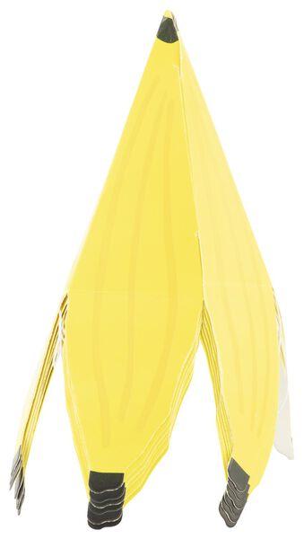 6 paper party hats - banana - 14280132 - hema