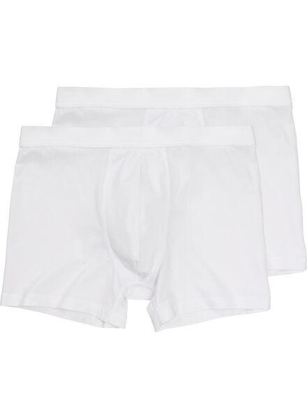 Image of HEMA 2-pack Men's Boxer Shorts Long White (white)