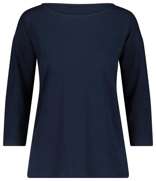 women's T-shirt dark blue dark blue - 1000018259 - hema
