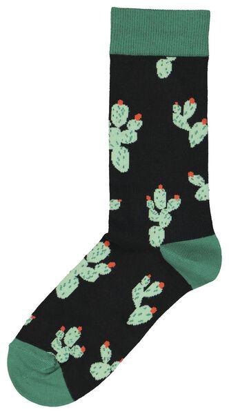 men's socks cactuses black black - 1000020386 - hema