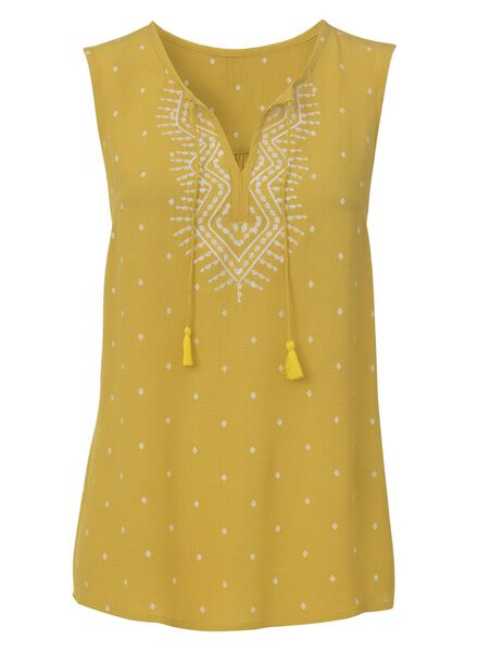 women's top yellow yellow - 1000007268 - hema