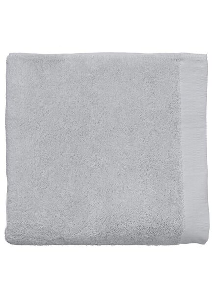 towel - 70 x 140 cm - ultra soft - light grey light grey towel 70 x 140 - 5217028 - hema