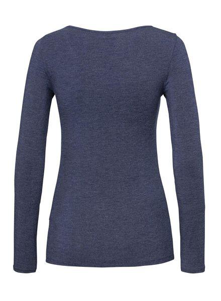 women's thermal T-shirt blue blue - 1000002006 - hema