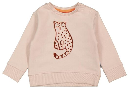 Babyoberteile - HEMA Newborn Sweatshirt, Leopard Altrosa - Onlineshop HEMA