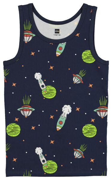 2-pack children's vests space blue blue - 1000020472 - hema