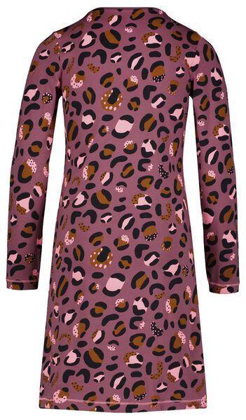 Kinder-Nachthemd, elastische Baumwolle, Leomuster violett 134/140 - 23054301 - HEMA