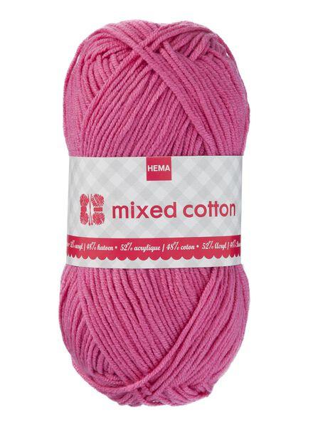 fil à tricoter coton mélangé - rose foncé - 1400156 - HEMA
