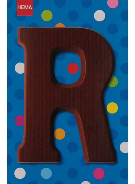 milk chocolate letter R - 10033015 - hema
