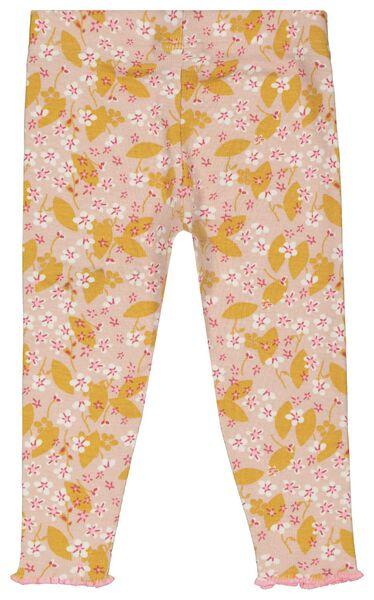 Baby-Pyjama, Blumen, elastische Baumwolle rosa 74/80 - 33327621 - HEMA