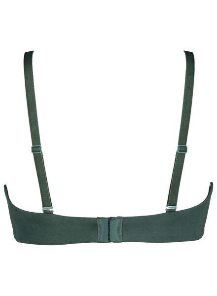 padded bra no underwire micro green green - 1000014480 - hema
