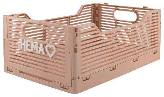 Buchstabentafel-Klappkiste, recycelt, 20 x 30 x 11.5 cm, rosa rosa 20 x 30 x 11,5 - 39821020 - HEMA