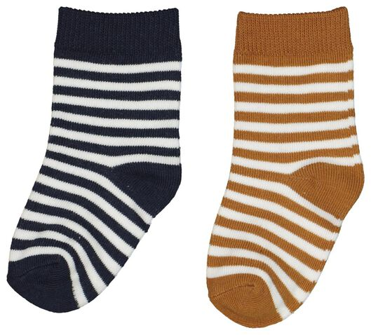 2-pack baby socks with bamboo brown 12-18 m - 4723393 - hema