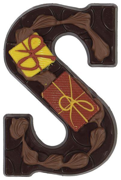 decorated dark chocolate letter S - 10038072 - hema