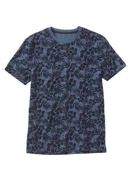 men's T-shirt mid blue mid blue - 1000006060 - hema