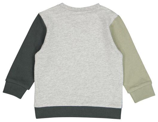 baby sweater vlakken groen groen - 1000024471 - HEMA