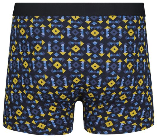 men's boxers short cotton stretch dark blue dark blue - 1000018804 - hema