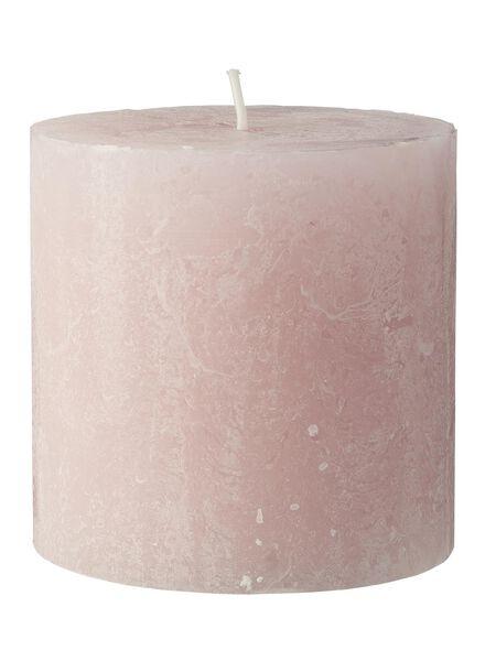 rustieke kaarsen lichtroze lichtroze - 1000015367 - HEMA