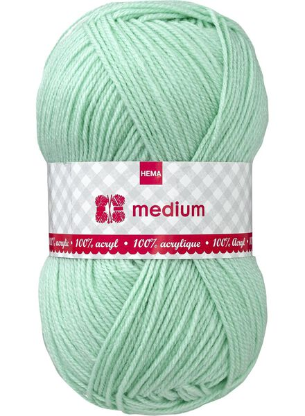 knitting yarn medium medium 100 g light green - 1400051 - hema