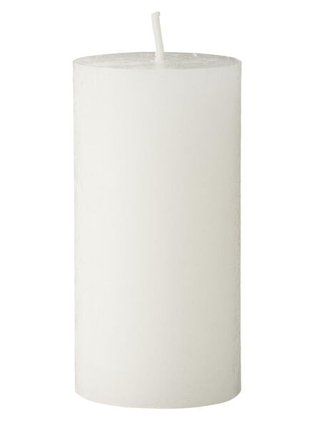 bougie rustique - 8x5 cm - blanc - 13503271 - HEMA