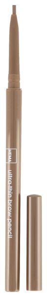 crayon sourcils extra fin marron moyen - 11214124 - HEMA