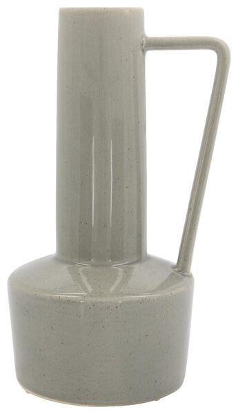 vase Ø12x28 poignée gris vert - 13311039 - HEMA