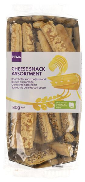 assorted savoury snacks with butter and cheese - 140 grams - 10661405 - hema