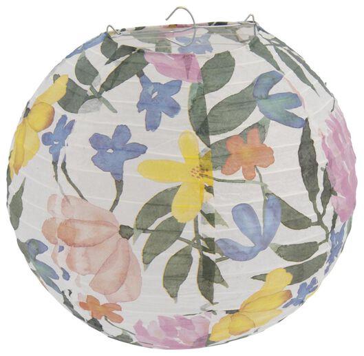 lampion en carton 25cm fleurs - 14200452 - HEMA