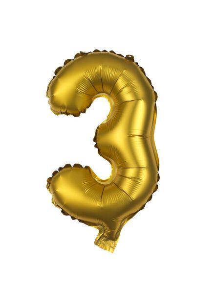 foil balloon 3 - gold - 60800503 - hema