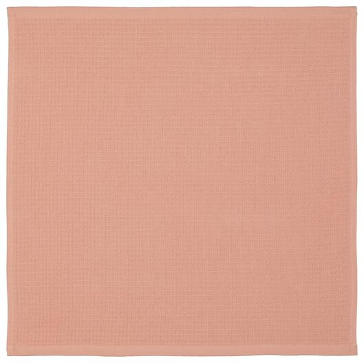essuie-mains - 50 x 50 - coton gaufré orange - 5490047 - HEMA