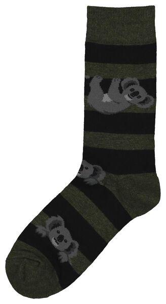 Herren-Socken, Koalas graugrün graugrün - 1000022304 - HEMA