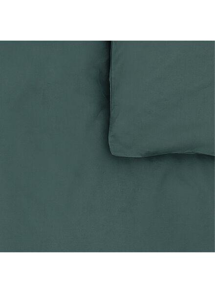 dekbedovertrek - zacht katoen - uni donkergroen donkergroen - 1000014127 - HEMA