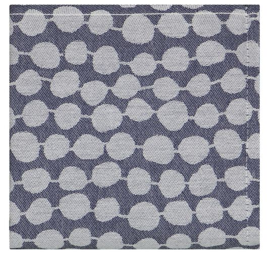 theedoek 65x65 katoen kralen donkerblauw - 5410137 - HEMA