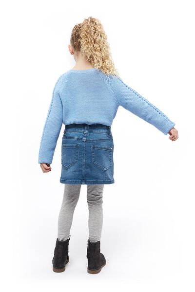 children's sweater knitted blue blue - 1000017532 - hema