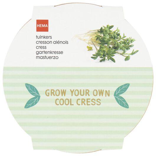 garden cress cultivation set with tray Ø 11 cm - 41810226 - hema