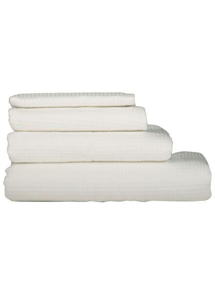 serviettes de bain - gaufre blanc blanc - 1000015751 - HEMA