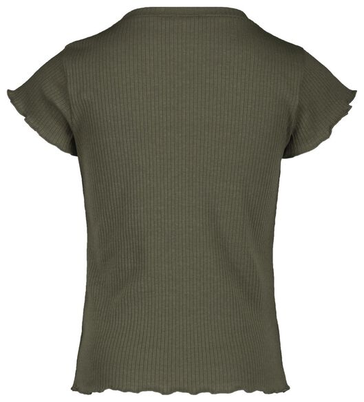 children's T-shirt ribbed army green army green - 1000018971 - hema