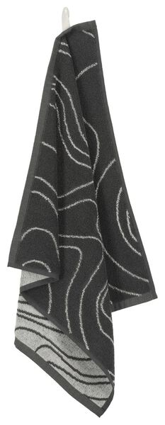 kitchen towel - 50 x 50 - cotton - grey waves - 5490040 - hema