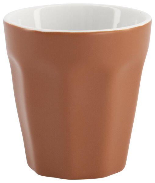 mug - 90 ml - Mirabeau mat - terracotta - 9602202 - HEMA