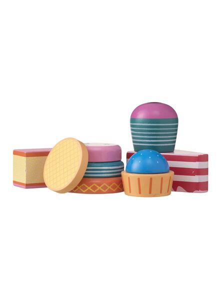 6-pak houten taartjes - 15122201 - HEMA